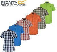 Regatta Mens Efan Honshu Short Sleeved Check Shirt Stretch & Cooling