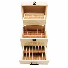 3 Tier Essential Oil Storage Box Wood Case  Organizer Display ideal for DoTERRA