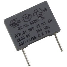 5 Kemet r413f12200000m mkp-funkentstörkondensator 300v 2,2nf rm10 856635
