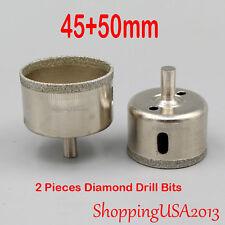 45+50mm Diamond Metal Drill Bits Set Hole Saw Cutter Tool Glass Marble Ceramic**