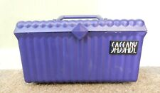 Vintage Sassaby Makeup Cosmetic Travel Case Organizer With Handle Purple