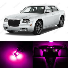 10 x Pink/Purple LED Interior Light Package For 2005 - 2010 Chrysler 300 300C