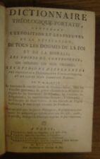 Dictionnaire théologique-portatif/ les hérésies les plus célèbres.1756.