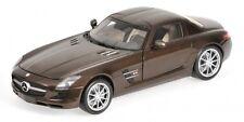 Mercedes Benz SLS AMG 2010 Brown Metallic 1:18 Model MINICHAMPS