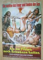 Filmplakat - Als die Frauen noch Schwänze hatten ( Senta Berger , G. Gemma )