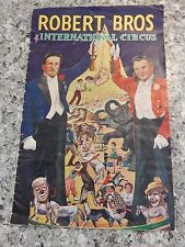 ROBERT BROTHERS CIRCUS PROGRAM   GREAT READ WELL ILLUS  1950 - 60S
