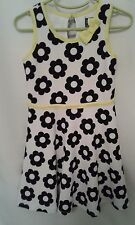 Pink & Violet Girls White Sleeveless Skater Dress With Yellow Bow Size 5