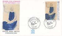 Enveloppe maximum 1er jour FDC n°1689 1990 - Tableau Auguste Rodin Cambodgienne
