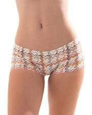 CROOTA Womens Seamless Underwear, Low Rise Boyshorts, size Large