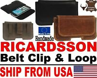 # BELT CLIP & LOOP RICARDSSON GENUINE LEATHER WAIST POUCH CASE FOR APPLE IPHONE