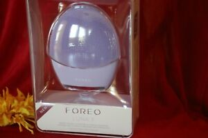 FOREO LUNA 3 SMART FACIAL CLEANSING FIRMING MASSAGE PURPLE SENSITIVE SKIN SEALED