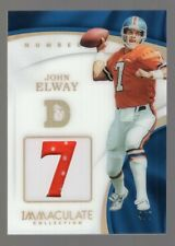 JOHN ELWAY 2017 PANINI IMMACULATE ACETATE GAME USED JERSEY #4/7 NUMBER BRONCOS