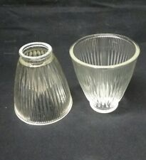 set of 2 light shades lamp ceiling fan  chandelier wall sconce glass vintage