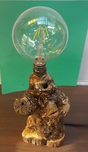 RUSTIC handmade Table lamp base made from pencil pine and unique driftwood top
