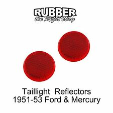 1951 - 1953 Ford & Mercury Taillight Reflector Pair
