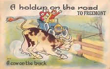 Freemont IN Cow on the Loose About To Cause A Hold-up on the Road 1914