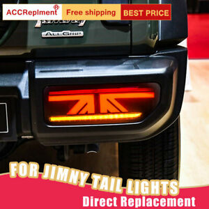 For Suzuki Jimny LED Taillights Assembly Dark / Red LED Rear Lamps 2018-2019