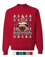 Pugly Sweatshirt Sweatshirt Pug Ugly Sweater Jolly Christmas Xmas Sweater