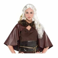 Adulto Mujer Mother of Dragons Fantasy Princesa Guerrera Capa Tronos Cosplay