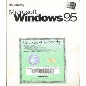 "Microsoft Windows 95, 3.5"" Floppy Disc, Original Certificate, New in Shrink Wrap"