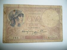 BANCONOTA 5 FRANCHI FRANCIA 1940 SPL