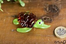 More details for handmade glass turtle ornament tortoise gloss garden decor home collectable gift