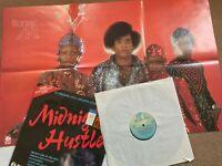 MIDNIGHT HUSTLE- 1978 Soul/Funk Compilation Vinyl LP/ + Boney M Poster