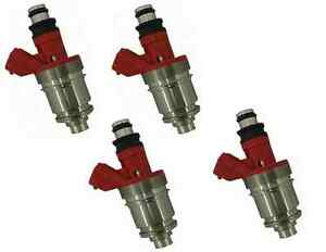4 FUEL INJECTORS for HOLDEN RODEO TF 4ZE1 2.6L 94-98 RED TOP INJECTOR