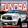 For 2007-2013 Tundra CrewMax Side Window Deflectors with Logo Visors Vent Guards