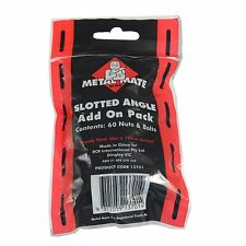 Metal Mate SLOTTED ANGLE ADD ON PACK 60 Nuts & Bolts, Corner Braces *Aust Brand