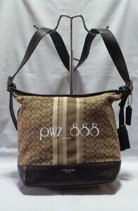 COACH Legacy Monogram Shoulder Bag