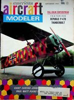 Vtg American Aircraft Modeler Magazine Sep 1968 Giant Curtiss Jenny  m1035