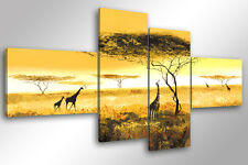 Quadro su Tela Quadri Moderni XXL cm 200x100 AFRICA 2 Arredamento Arte Arredo