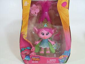 "TROLLS 2016 MOVIE Princess Poppy 9 Inch Doll DREAMWORKS Collectible Figure 9"""