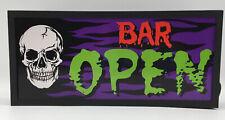 Bar Open Light Up Man Cave Sign