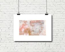 Blush Pink Abstract Art Print, Luxury Abstract Wall Decor, Signed Art Print