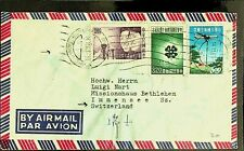TAIWAN CHINA 1963 3v ON AIRMAIL COVER TO MISSIONHAUS BETHLEHEM, SWITZERLAND