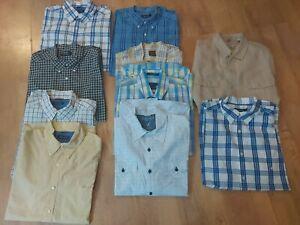 Bundle Of 10 large Mens Designer Shirts 24in Pit Gant Timberland Nautica