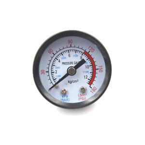 10mm Thread Gas Air Pump Pressure Gauge Compressor Manometer 0-12BAR 0-180PSI YH