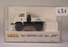 Brekina 1/87 No.39057 Mercedes Unimog 402 Berliner Stadtreinigung U26 OVP #681