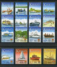 Kiribati 2013 MNH Water Transport Transportation Defin 16v Set Ships Stamps