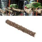 Wooden Bird Parrot Stand Holder Paw Grinding Perch Chew Pets Toys Hanging Cage