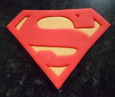 LARGE EDIBLE BOYS BATMAN / SUPERMAN BIRTHDAY CAKE TOPPER
