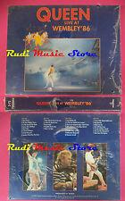 2 MC QUEEN Live at wembley 86 BOX SIGILLATO 1992 italy 7995944 no cd lp vhs dvd