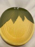 "1-Vintage Shawnee Corn King Dinner Plate (s) 9 3/4"" #68 Yellow Corn Green Shuck"