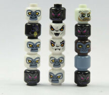 LEGO 15 Figurines Heads Ninjago Monster Zombie printed on Spare Parts New (5)