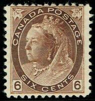 1898 Canada SG159 6c Brown Fine Mounted Mint Cat. £100.00