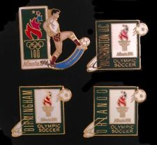 Lot of 4 Soccer Olympic Venue Pins~Football Badge~1996 Atlanta