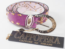New  Cappopera Pink leather Belt Size M