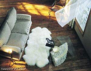 "BOWRON ivory SHEEPSKIN SOFT WOOL Quarto  71""x43"""